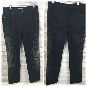 Chicos So Slimming Black Gold Pants